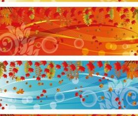 Autumn Banner free design vector