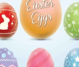 Colorful Easter Eggs Graphic Illustration vector