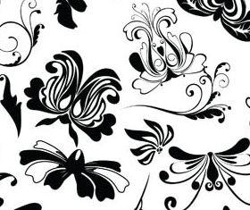 Floral Ornament Elements Mix 18 vectors
