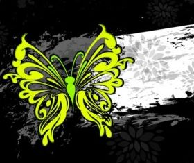 colorful abstract butterfly pattern 03 shiny vector