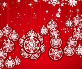 Christmas Balls Snowflake Background vector