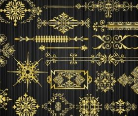 gold pattern 04 vector graphic