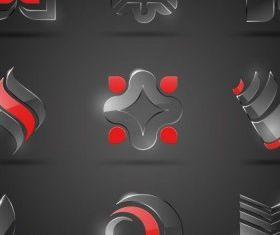 glass icon texture 01 design vector