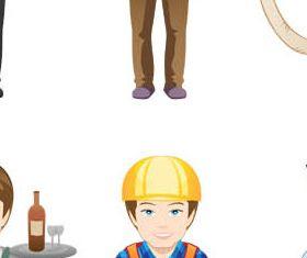 Cartoon Workers 2 vector
