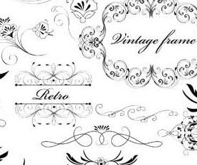 Floral Ornament Elements Mix 17 vector graphics