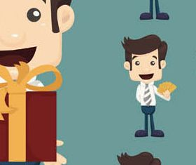Cartoon Business People 3 set vector