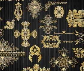 gold pattern 02 vector