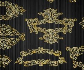 gold pattern 03 vector