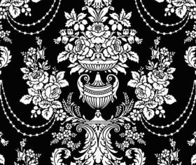 black and white pattern 02 vector graphics
