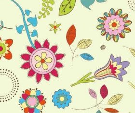 abstract flower pattern background design vector