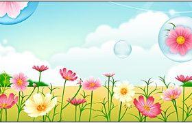 Flower garden graphic set vector