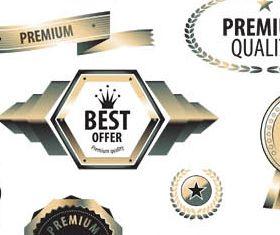 Luxury Sale Labels vector graphic