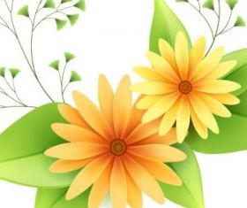 beautiful small flowers 1 vector