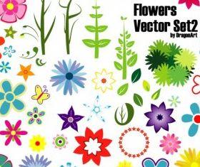 Flowers Set 2 vector