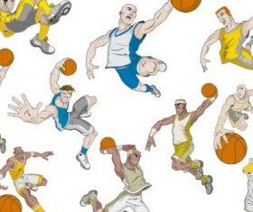 basketball cartoon characters vector material
