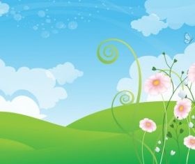 Spring Background design vectors