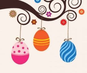 Cute Easter Card Graphic vector design