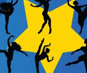 Dancing Stars free vector