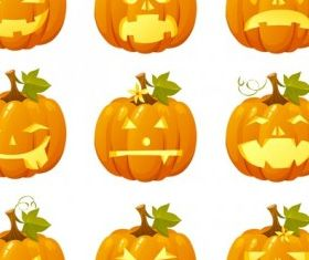 halloween pumpkin head vector