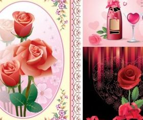 love roses vector