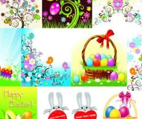 easter egg series design vectors