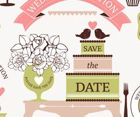 Wedding Vintage Elements vector