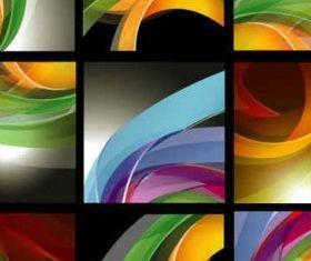 dynamic ribbon background shiny vector