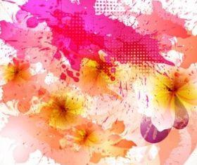 beautiful flowers background 03 vectors graphics