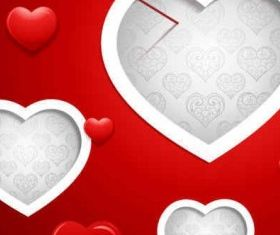 Valentine Red Background vector graphics