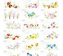floral pattern vectors material