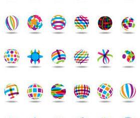 Abstract Shiny Logotypes 2 vector