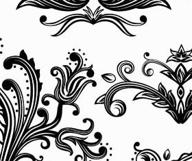 Floral Ornament Elements Mix 16 vector