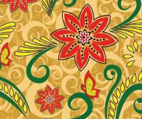 Retro Floral Seamless Pattern vectors graphic