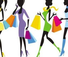 shopping girl 03 vector