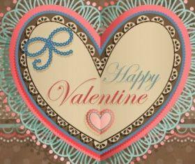 valentines day heartshaped tag 04 vector