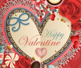 valentines day heartshaped tag 03 vector