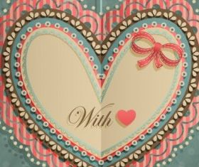 valentines day heartshaped tag 02 vector