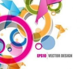 origami ribbon design background 2 vector design