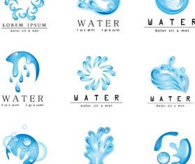 Water Splash Logotypes vector set