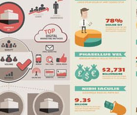 Business Infographics 2 set vector