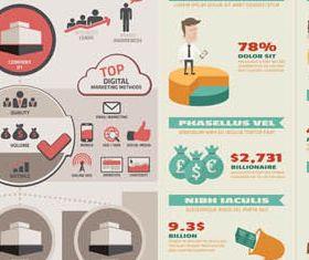 Business Infographics 2 set vector