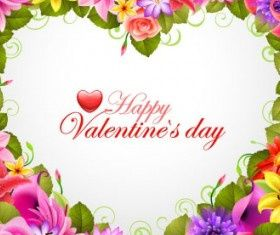 valentines day flowers background 04 vectors