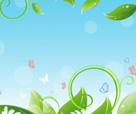 Flower and leaf background vector