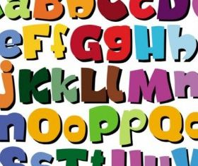 cartoon pop letters vector