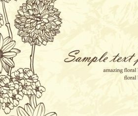 beauty flower background 04 set vector
