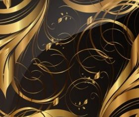 gold pattern 01 vector
