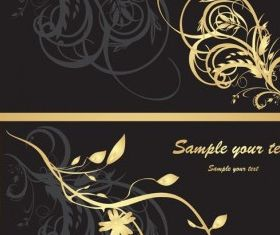 ornate gold pattern vector