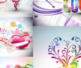 Abstract Valentines Day Graphics vector