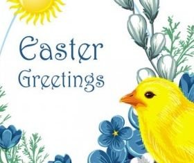 easter chicks 3 vector graphics