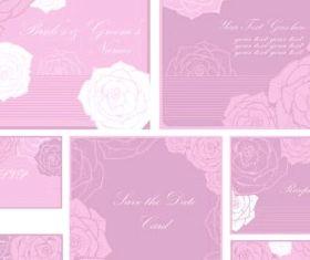 beautiful pattern card 04 set vector